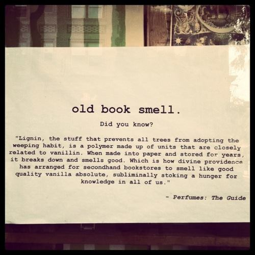 The smell of a book